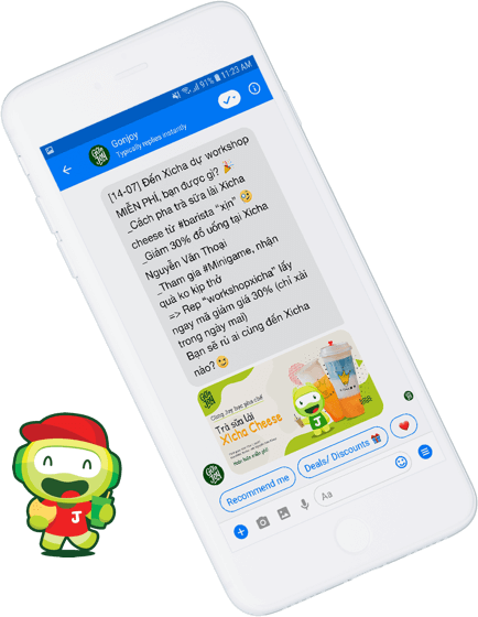 Envoi de messages promotionnels via Facebook Messenger